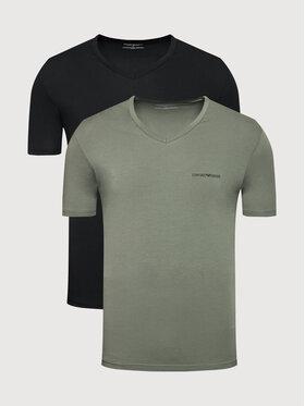 Emporio Armani Underwear Emporio Armani Underwear Комплект 2 тишъртки 111849 1A717 06621 Черен Regular Fit