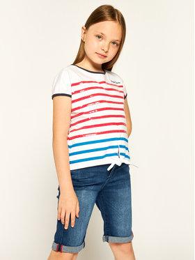 Pepe Jeans Pepe Jeans T-Shirt Monet PG502457 Λευκό Regular Fit