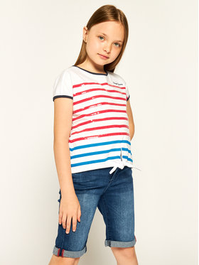 Pepe Jeans Pepe Jeans Тишърт Monet PG502457 Бял Regular Fit