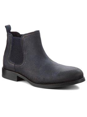Tommy Jeans Tommy Jeans Kotníková obuv s elastickým prvkem Casual Chelsea Suede EM0EM00142 Tmavomodrá