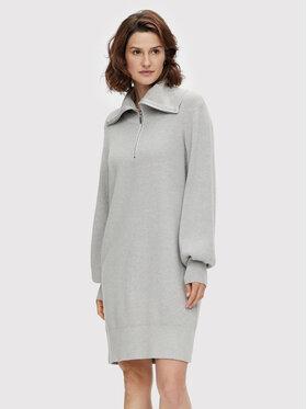 YAS YAS Плетена рокля Dalma 26024412 Сив Regular Fit
