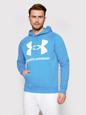 Under Armour Under Armour Sweatshirt Ua Rival Fleece Big Logo 1357093 Bleu Loose Fit