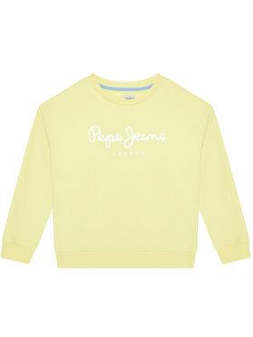 Pepe Jeans Pepe Jeans Суитшърт Rose PG581083 Жълт Regular Fit