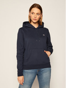 Tommy Jeans Tommy Jeans Sweatshirt Fleece Hoodie DW0DW09228 Dunkelblau Regular Fit