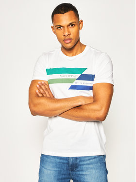Marc O'Polo Marc O'Polo T-Shirt 023 2131 51128 Biały Shaped Fit