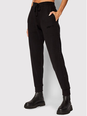 DKNY Sport DKNY Sport Pantalon jogging DP1P2250 Noir Regular Fit