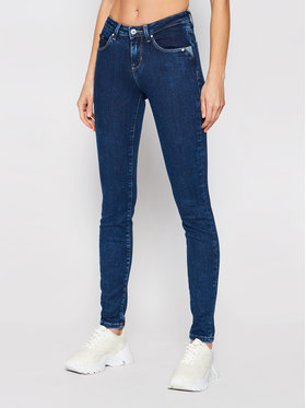 Guess Guess Jeansy Annette W1RA99 D4663 Granatowy Skinny Fit