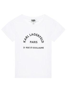 KARL LAGERFELD KARL LAGERFELD T-shirt Z25272 S Blanc Regular Fit