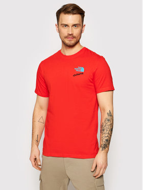 The North Face The North Face T-Shirt Extreme NF0A4AA115Q1 Červená Regular Fit