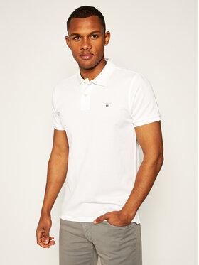 Gant Gant Тениска с яка и копчета The Original Pique Ss Rugger 2201 Бял Regular Fit