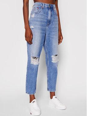 Tommy Jeans Tommy Jeans Blugi Ultra Tapered DW0DW10640 Albastru Mom Fit