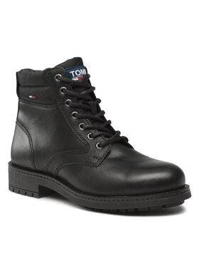 Tommy Jeans Tommy Jeans Ορειβατικά παπούτσια Classic Short Lace Up Boot EM0EM00827 Μαύρο