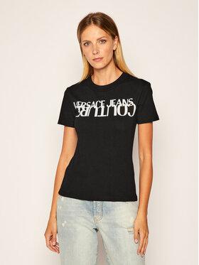 Versace Jeans Couture Versace Jeans Couture Тишърт B2HZA7KB Черен Slim Fit