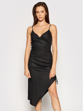 NA-KD NA-KD Robe d'été Drawstring 1018-006817-0002-581 Noir Regular Fit