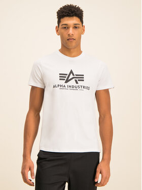 Alpha Industries Alpha Industries T-Shirt Basic 100501 Biały Regular Fit