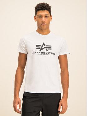Alpha Industries Alpha Industries T-Shirt Basic 100501 Bílá Regular Fit