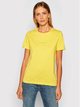 Calvin Klein Calvin Klein Póló 3D Metallic Logo K20K202156 Sárga Regular Fit