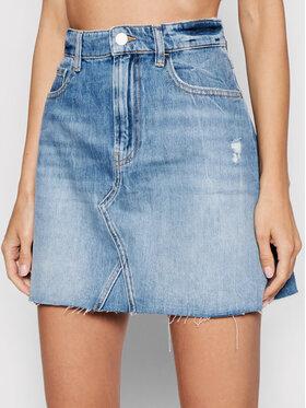 Guess Guess Džinsinis sijonas W1YD84 D3Y0G Mėlyna Regular Fit