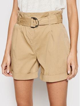 Calvin Klein Calvin Klein Szorty materiałowe Paperbag K20K202820 Beżowy Regular Fit