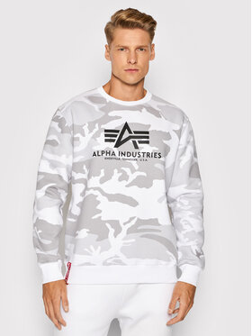 Alpha Industries Alpha Industries Felpa Basic 178302C Bianco Regular Fit