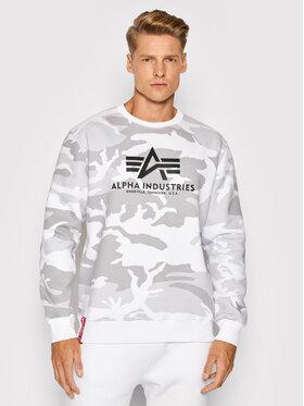 Alpha Industries Alpha Industries Majica dugih rukava Basic 178302C Bijela Regular Fit