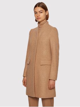 Boss Boss Płaszcz wełniany C_Cojulie 50436614 Brązowy Slim Fit