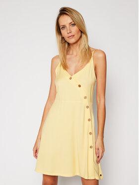 Roxy Roxy Letní šaty Sun May ERJWD03422 Žlutá Regular Fit