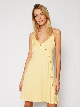 Roxy Roxy Robe d'été Sun May ERJWD03422 Jaune Regular Fit