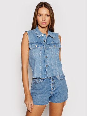 Calvin Klein Jeans Calvin Klein Jeans Kamizelka Woven J20J217224 Niebieski Regular Fit