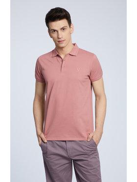 Vistula Vistula Тениска с яка и копчета Mike XA1283 Розов Regular Fit