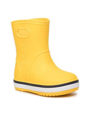 Crocs Crocs Guminiai batai Crocband Rain Boot K 205827 Geltona
