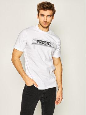 PROSTO. PROSTO. Marškinėliai KLASYK Bench 8608 Balta Regular Fit
