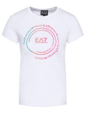 EA7 Emporio Armani EA7 Emporio Armani T-Shirt 3HFT59 FJT2Z 1100 Biały Regular Fit