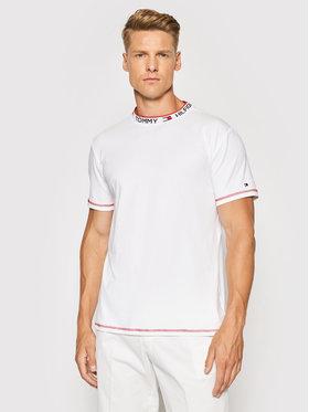 Tommy Hilfiger Tommy Hilfiger T-Shirt Cn Ss UM0UM02127 Biały Regular Fit