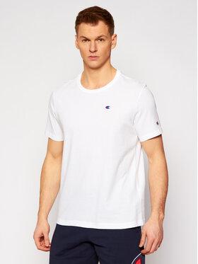 Champion Champion T-Shirt Small C Logo 214674 Biały Custom Fit