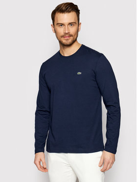 Lacoste Lacoste Marškinėliai ilgomis rankovėmis TH2040 Tamsiai mėlyna Regular Fit