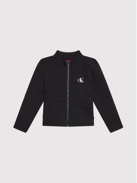 Calvin Klein Jeans Calvin Klein Jeans Sweatshirt Reversible Zip Through IG0IG01041 Schwarz Regular Fit