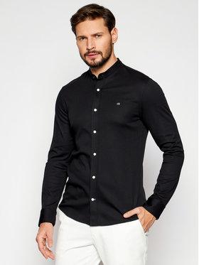 Calvin Klein Calvin Klein Koszula Stand Collar K10K107112 Czarny Slim Fit