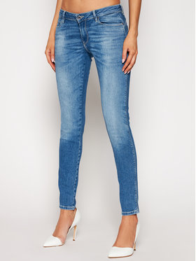 Guess Guess Jeansy Ultra Curve W1RA37 D4AO1 Modrá Skinny Fit