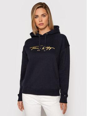 Tommy Hilfiger Tommy Hilfiger Sweatshirt Gold Script WW0WW29888 Bleu marine Relaxed Fit