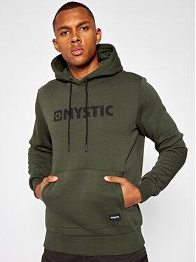 mystic mystic Džemperis Brand Hood 35104.190035 Žalia Regular Fit