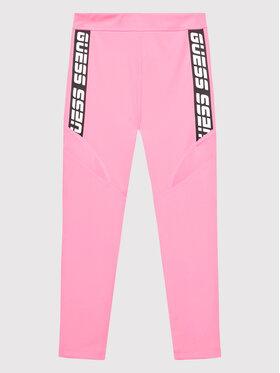 Guess Guess Legginsy J1BB10 MC03W Różowy Skinny Fit