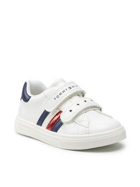 Tommy Hilfiger Tommy Hilfiger Sneakersy Low Cut Velcro Shoe T1A4-31147-0621 S Biały