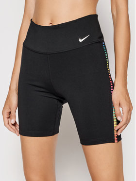 Nike Nike Спортивні шорти One Rainbow Ladder DA0887 Чорний Tight Fit