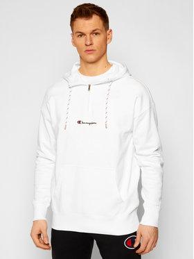 Champion Champion Sweatshirt Script Logo Print 214196 Blanc American Fit