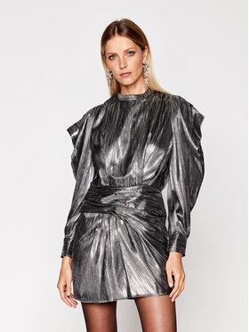 IRO IRO Koktejlové šaty Odell AN904 Stříbrná Regular Fit