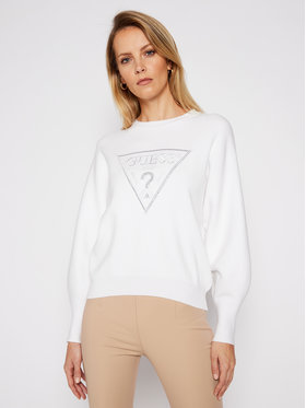 Guess Guess Sweater Lily W1RR0H Z26I0 Fehér Relaxed Fit
