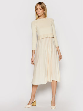 Weekend Max Mara Weekend Max Mara Ensemble robe d'été et pull Aidone 53210317 Beige Regular Fit