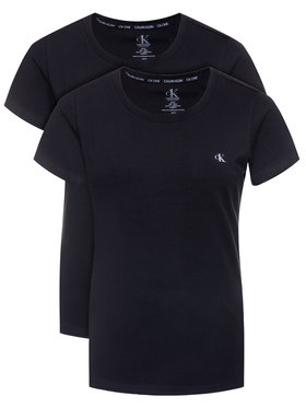Calvin Klein Underwear Calvin Klein Underwear 2-dílná sada T-shirts Lounge 000QS6442E Černá Regular Fit