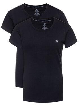 Calvin Klein Underwear Calvin Klein Underwear Комплект 2 тишъртки Lounge 000QS6442E Черен Regular Fit